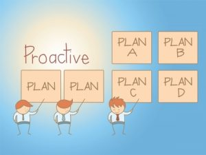 Proactive IT support concept